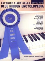 Cover of: Favorite Piano Solos Blue Ribbon Encyclopedia | Carole Flatau