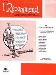 Cover of: I Recommend C Flute by James Ployhar