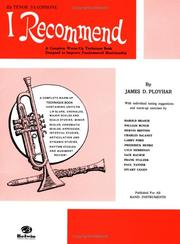 Cover of: I Recommend (B-flat Tenor Saxophone) | James Ployhar