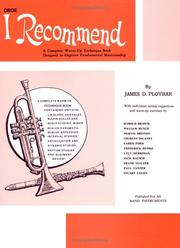Cover of: I Recommend (Oboe) | James Ployhar
