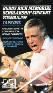 Cover of: Buddy Rich Memorial Scholarship Concerts 1 by Buddy Rich