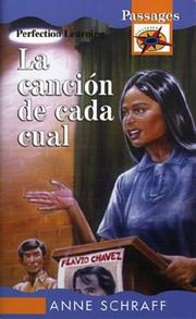 Cover of: La Cancion De Cada Cual/Song to Sing by Anne E. Schraff