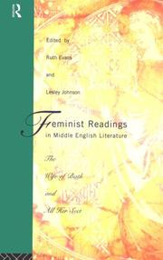 Cover of: Feminist Readings in Middle English Literature | Ruth Evans