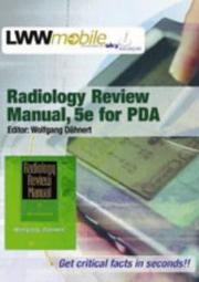 Cover of: Radiology Review Manual, Fifth Edition, for PDA | Wolfgang F Dähnert