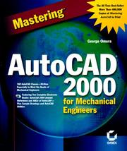 Cover of: Mastering AutoCAD 2000 for Mechanical Engineers | George Omura