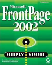 Cover of: Microsoft FrontPage 2002 Simply Visual | Perspection