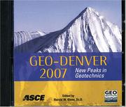 Cover of: Geo-Denver 2007 | Harold W. Olsen
