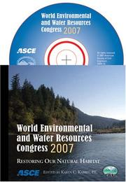 Cover of: World Environmental and Water Resources Congress 2007 | Karen C. Kabbes