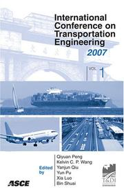 Cover of: International Conference on Transportation Engineering | Qiyuan Peng