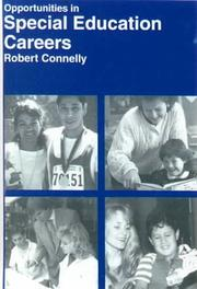 Cover of: Opportunities in Special Education Careers | Robert Connelley