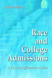 Cover of: Race and College Admissions | Jamillah Moore