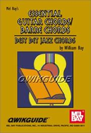 Cover of: Mel Bay Essential Guitar Chords/Barre Chords | William Bay