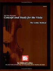 Cover of: Concept and Study for the Viola | Mikhail Lobko