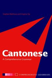 Cover of: Cantonese | Stephen Matthews