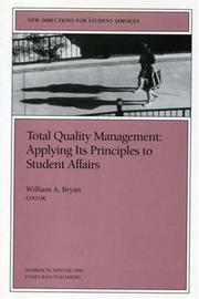 Cover of: Total Quality Management: Applying Its Principles to Student Affairs by William A. Bryan