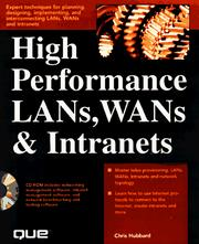 Cover of: High Performance Lans, Wans & Intranets | Chris Hubbard