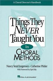 Cover of: Thing Never Taught Choral Mtd | Nancy Smirl Jorgensen
