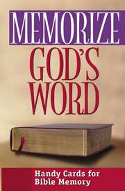 Cover of: Memorize God's Word | Moody Press