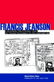 Cover of: Francis Jeanson by Marie-Pierre Ulloa