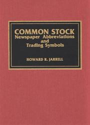 Cover of: Common stock newspaper abbreviations and trading symbols | Howard R. Jarrell