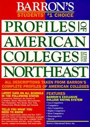 Cover of: Barron's Profiles of American Colleges Northeast (12th ed) | College Division of Barron's Educational Series