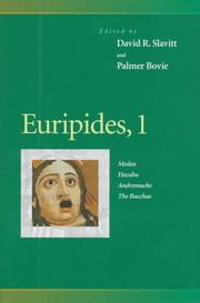 Cover of: Euripides, 1 by Daniel Mark Epstein