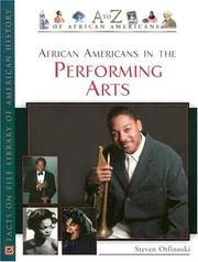 Cover of: African Americans in the performing arts by Steven Otfinoski