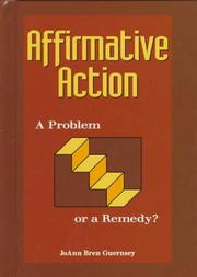 Cover of: Affirmative action | JoAnn Bren Guernsey