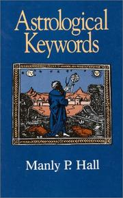 Cover of: Astrological Keywords (Littlefield, Adams Quality Paperback; No. 299) by Manly Palmer Hall