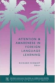 Cover of: Attention and Awareness in Foreign Language Learning by Richard Schmidt