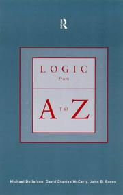 Cover of: Logic from A to Z | John B. Bacon