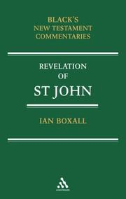 Cover of: Commentary on the Revelation of St John (Black's New Testament Commentaries) | Ian Boxall