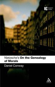 Cover of: Nietzsche's 'on the Genealogy of Morals' | Daniel Conway