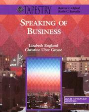 Cover of: Speaking of business | Lizabeth England, Christine Uber Grosse