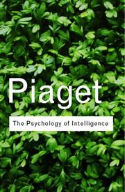 Cover of: Psychologie de l'intelligence | Jean Piaget