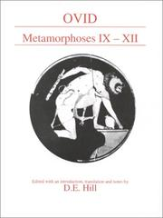 Cover of: Metamorphoses Ix-XII (Classical Texts) | Ovid