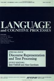 Cover of: Discourse Representation And Text Processing | Garnham Oakhill