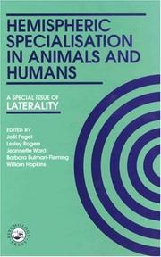 Cover of: Hemispheric Specialisation In Animals And Humans | Bullman-Fleming