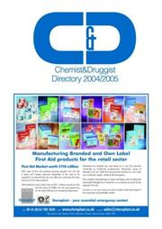 Cover of: 2004-2005 Chemist And Druggist Directory | Cmp