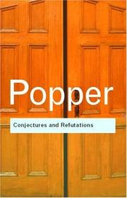 Cover of: Conjectures and refutations | Karl Raimund Popper