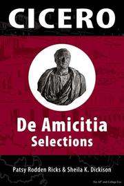 Cover of: Cicero's De Amicitia by Patsy Rodden Ricks & Sheila K. Dickison