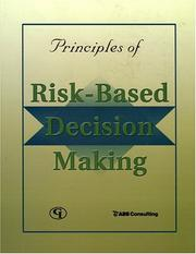 Cover of: Principles of Risk-Based Decision Making by ABS Consulting Inc.