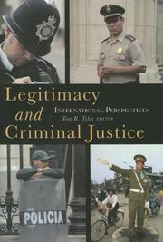 Cover of: Legitimacy and Criminal Justice by Tom R. Tyler