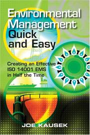 Cover of: Environmental Management Quick and Easy | Joe Kausek