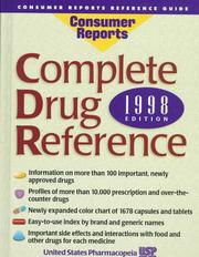 Cover of: Complete Drug Reference | United States Pharmacopeia