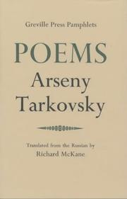 Cover of: Poems (Greville Press Pamphlets) | Arseny Tarkovsky