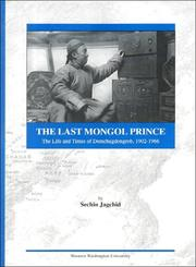 Cover of: The Last Mongol Prince by Jagchid, Sechin