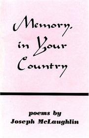 Cover of: Memory, in Your Country | Joseph McLaughlin