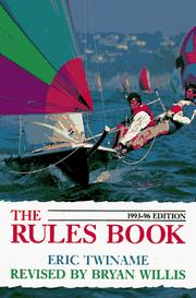 Cover of: The Rules Book 1993-96 by Bryan Willis
