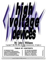 Cover of: High Voltage Devices | John J. Williams